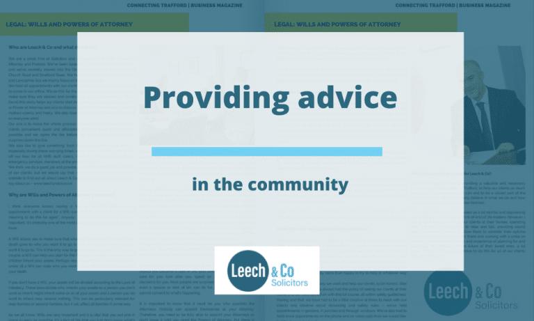 Providing advice in the press